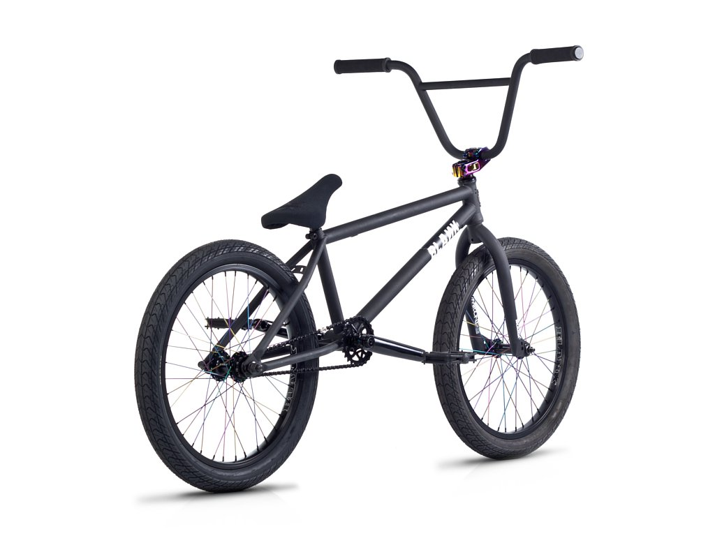blank bikes spirit 2016 bmx bike matte black rainbow. Black Bedroom Furniture Sets. Home Design Ideas
