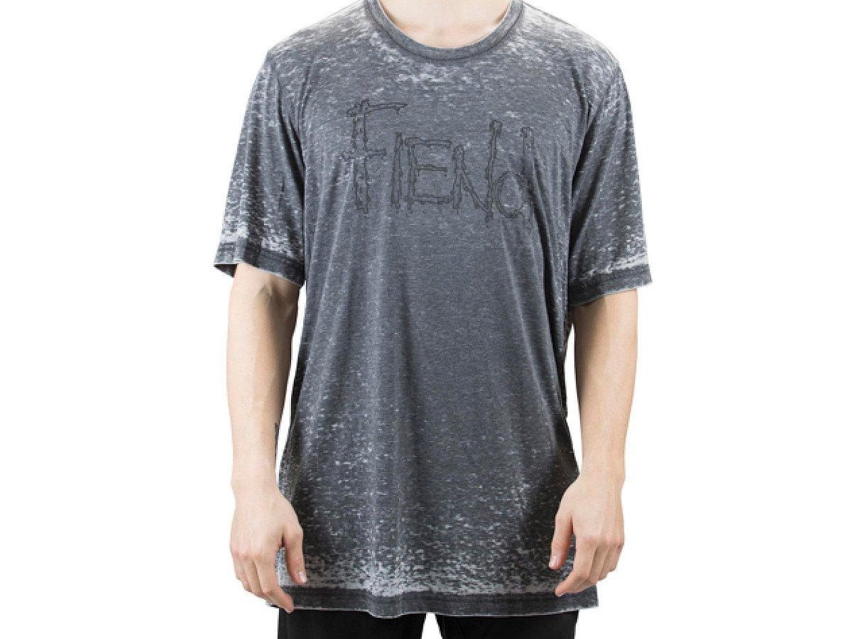 Fiend bmx logo t shirt acid wash kunstform bmx shop for Custom acid wash t shirts