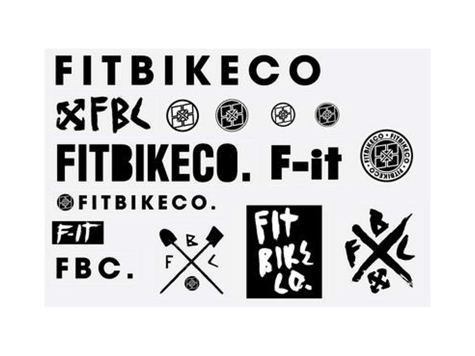 Fit bike co big fit sticker set