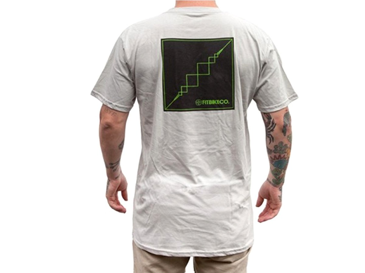 Fit bike co prism t shirt grey kunstform bmx shop for Bike and cycle shoppe shirt