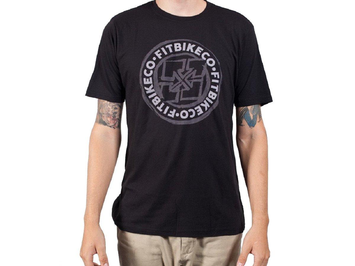 Fit bike co sketched emblem t shirt black kunstform for Bike and cycle shoppe shirt