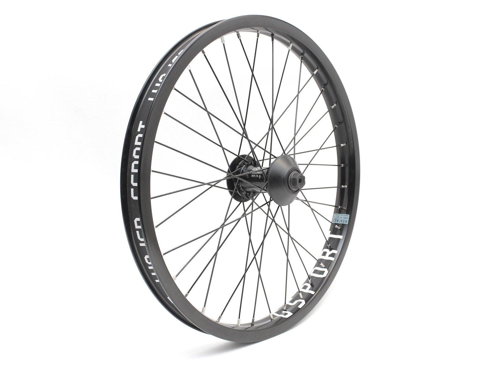 36H 3//8 Black Eclat BMX Front Wheel Trippin//Cortex