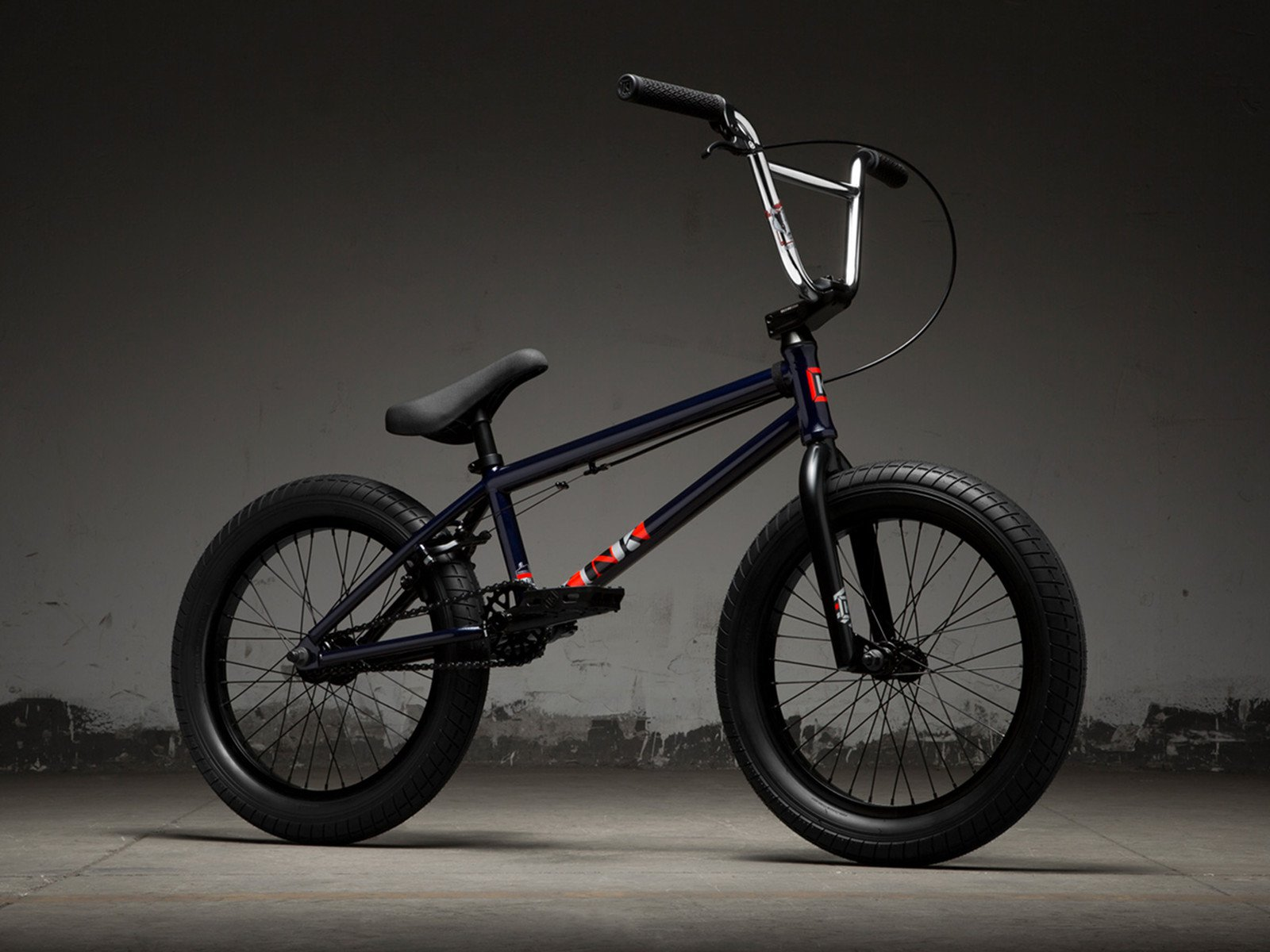 kink bikes kicker 18 2019 bmx rad gloss midnight blue. Black Bedroom Furniture Sets. Home Design Ideas