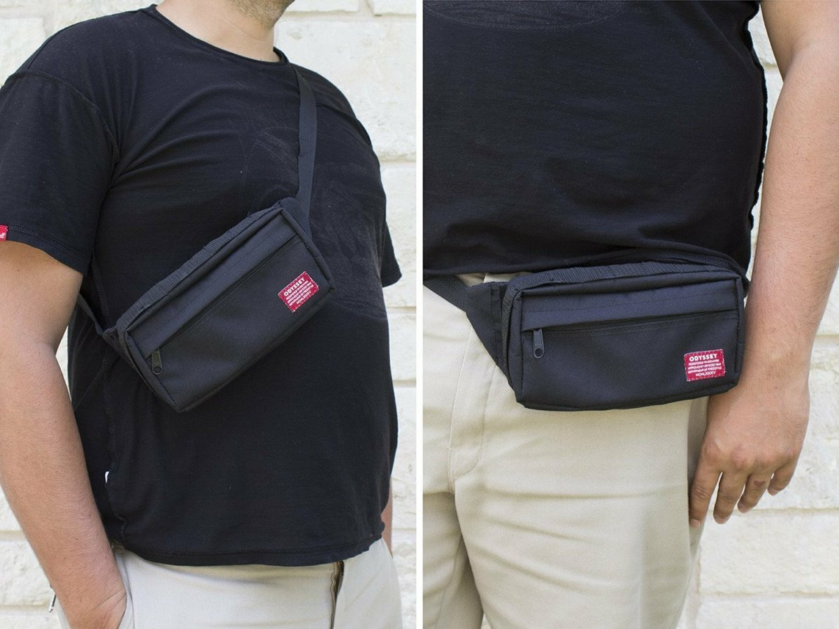 Odyssey Switch Pack Frame Bag And Hip//Sling Pack Black