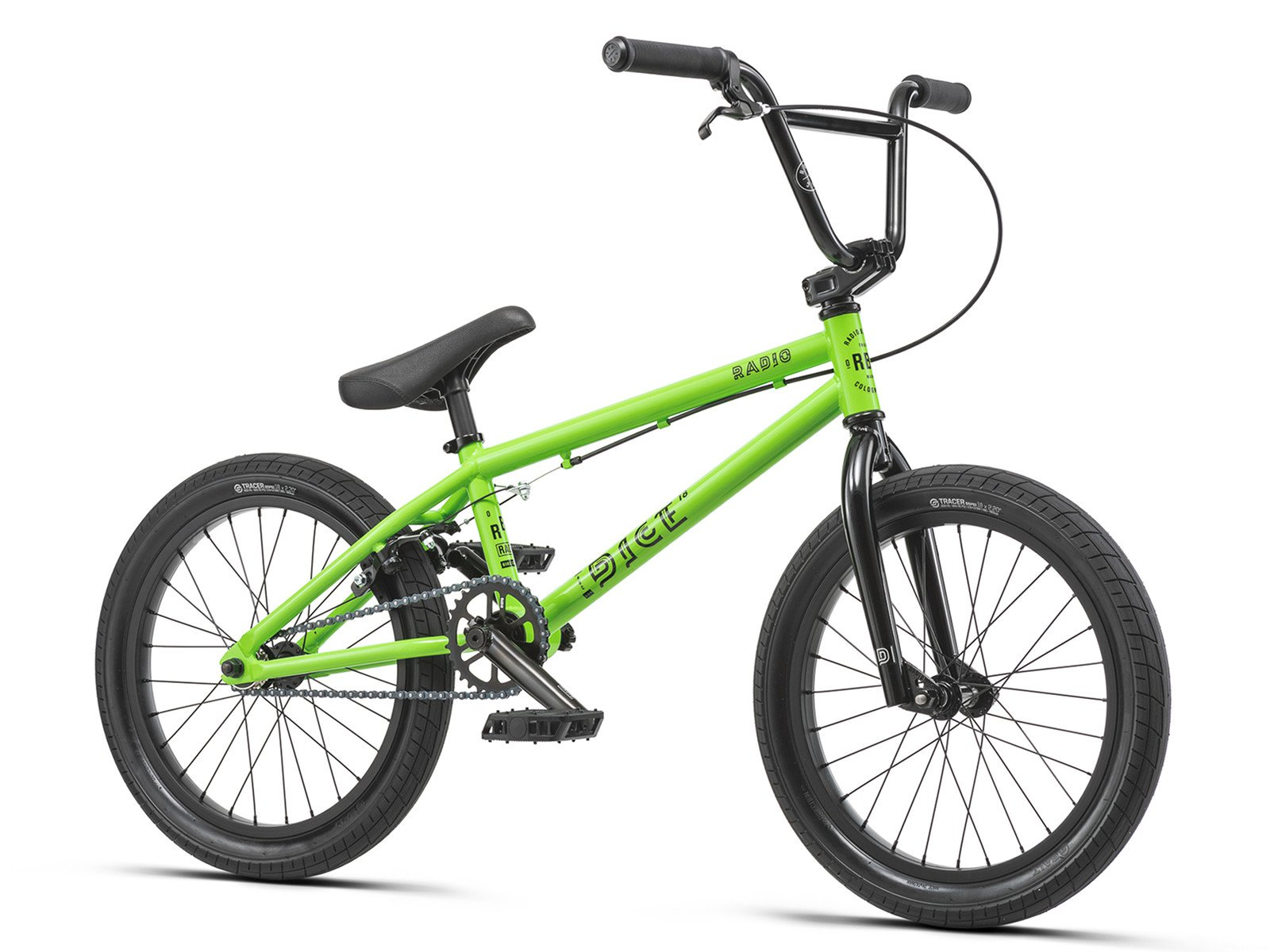 radio bikes dice 18 2019 bmx rad 18 zoll neon green. Black Bedroom Furniture Sets. Home Design Ideas