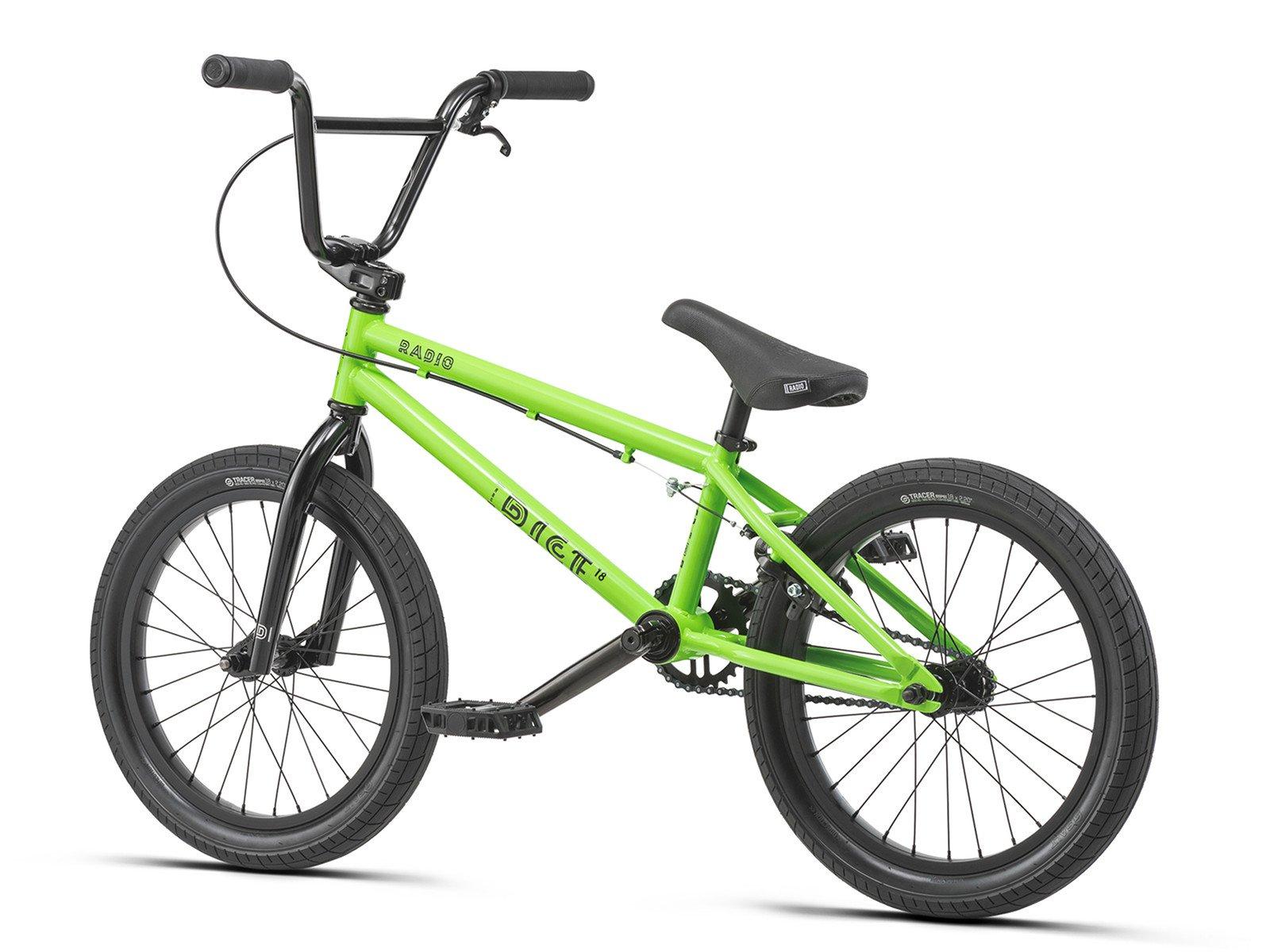 radio bikes dice 18 2019 bmx rad 18 zoll neon green. Black Bedroom Furniture Sets. Home Design Ideas