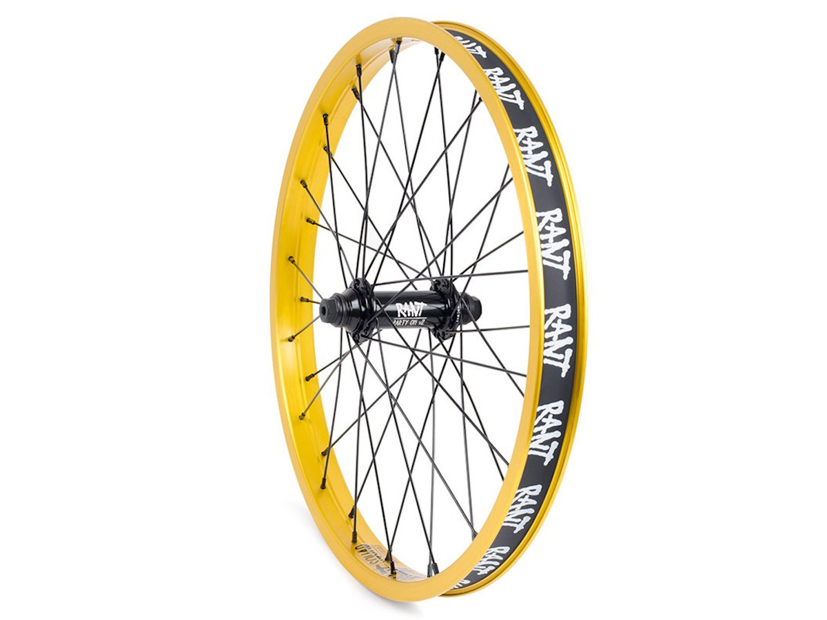 """RANT SQUAD BMX BIKE 18/"""" RIM DOUBLE WALL FIT CULT HARO SHADOW SUBROSA KINK GOLD"""