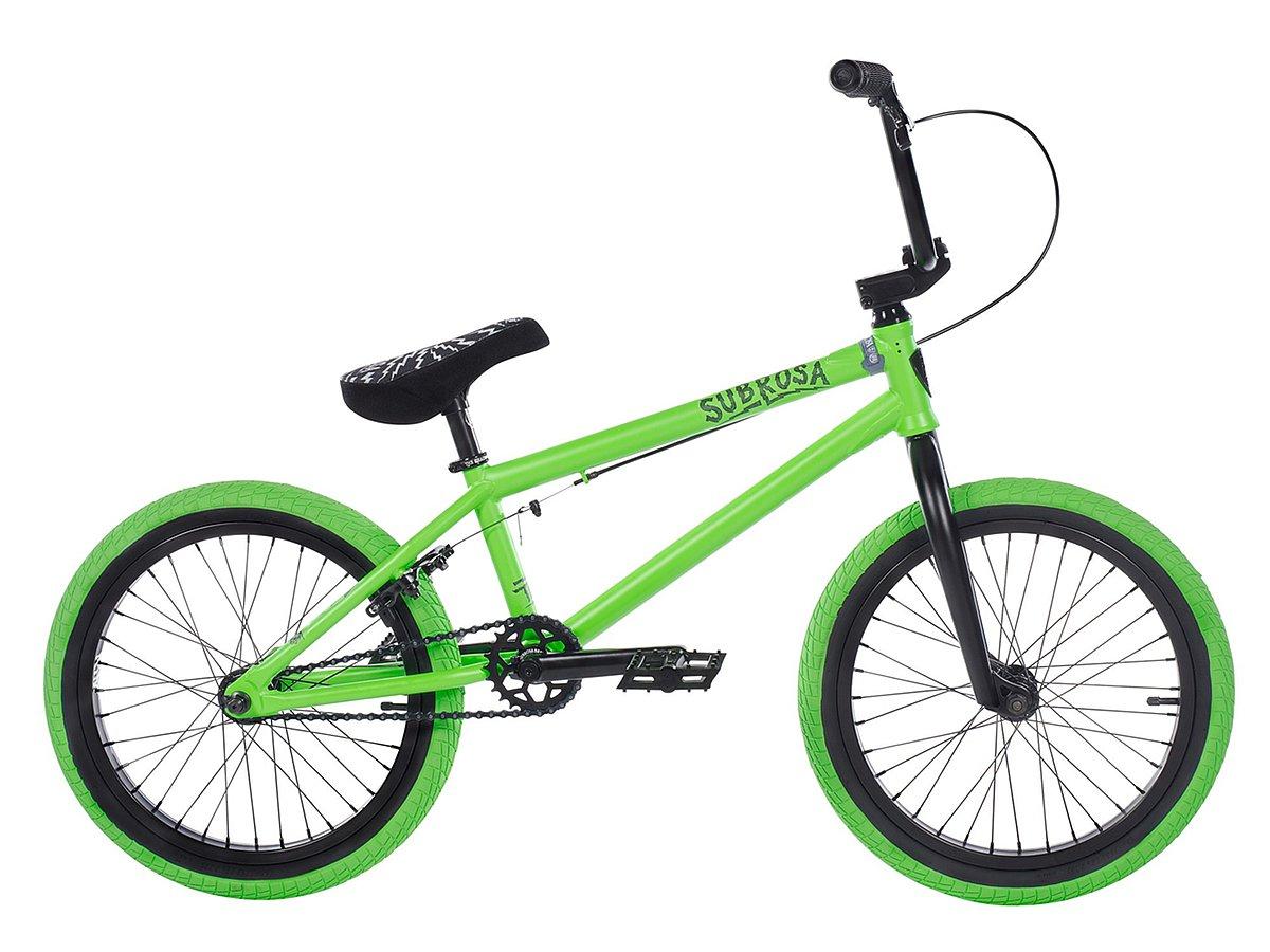 subrosa bikes tiro 18 2018 bmx bike satin neon green. Black Bedroom Furniture Sets. Home Design Ideas