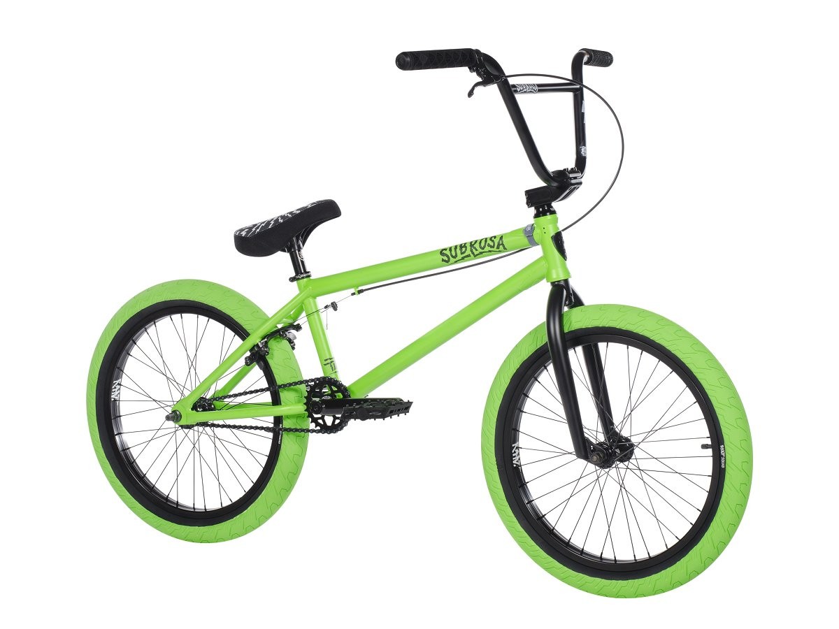 subrosa bikes tiro 2018 bmx bike satin neon green kunstform bmx shop mailorder. Black Bedroom Furniture Sets. Home Design Ideas