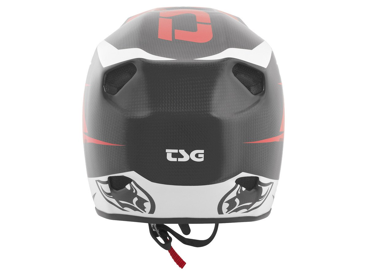 Tsg advance carbon graphic design fullface helmet red for Helm design