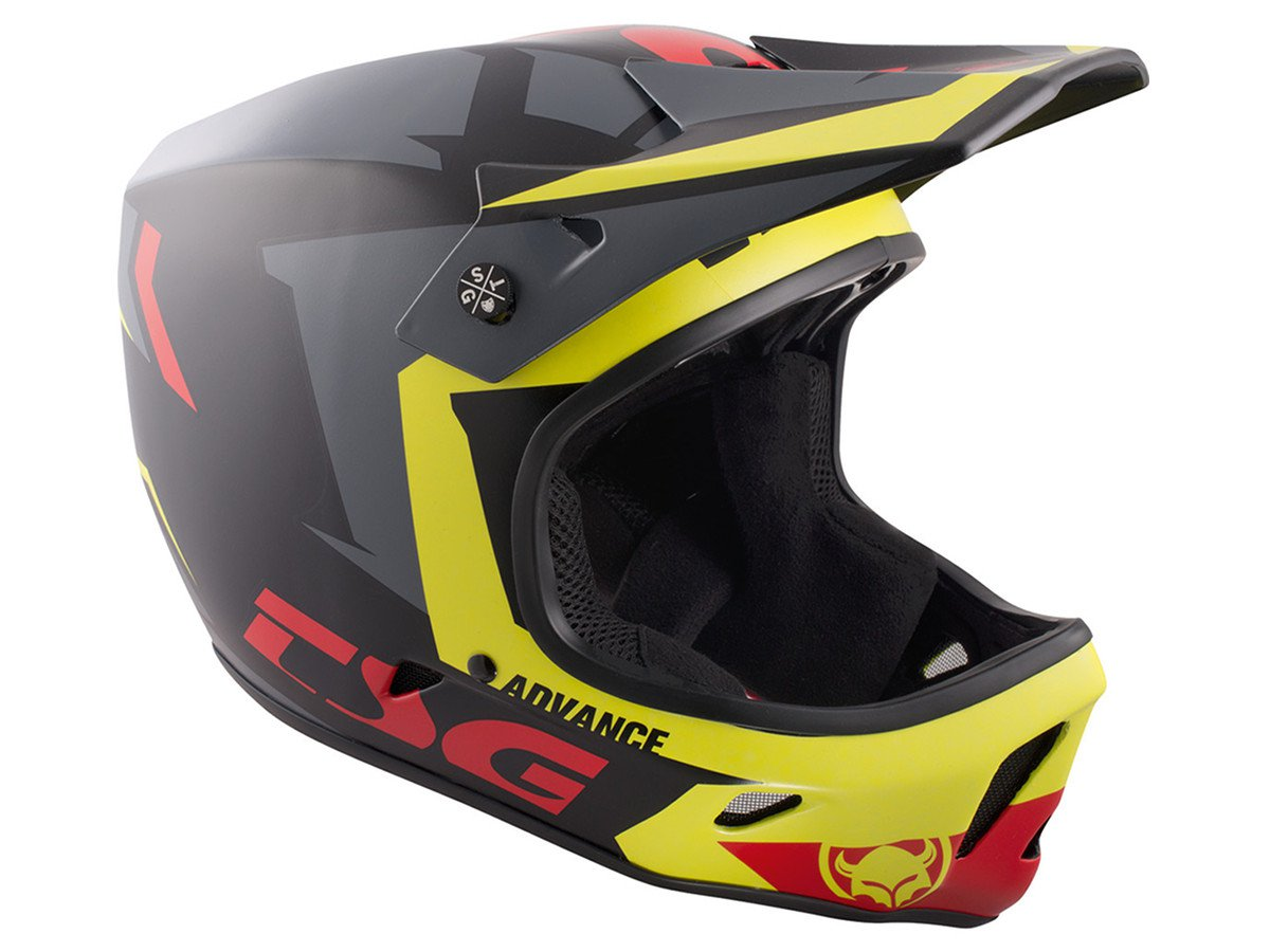 Tsg advance graphic design fullface helmet buzz yellow for Helm design