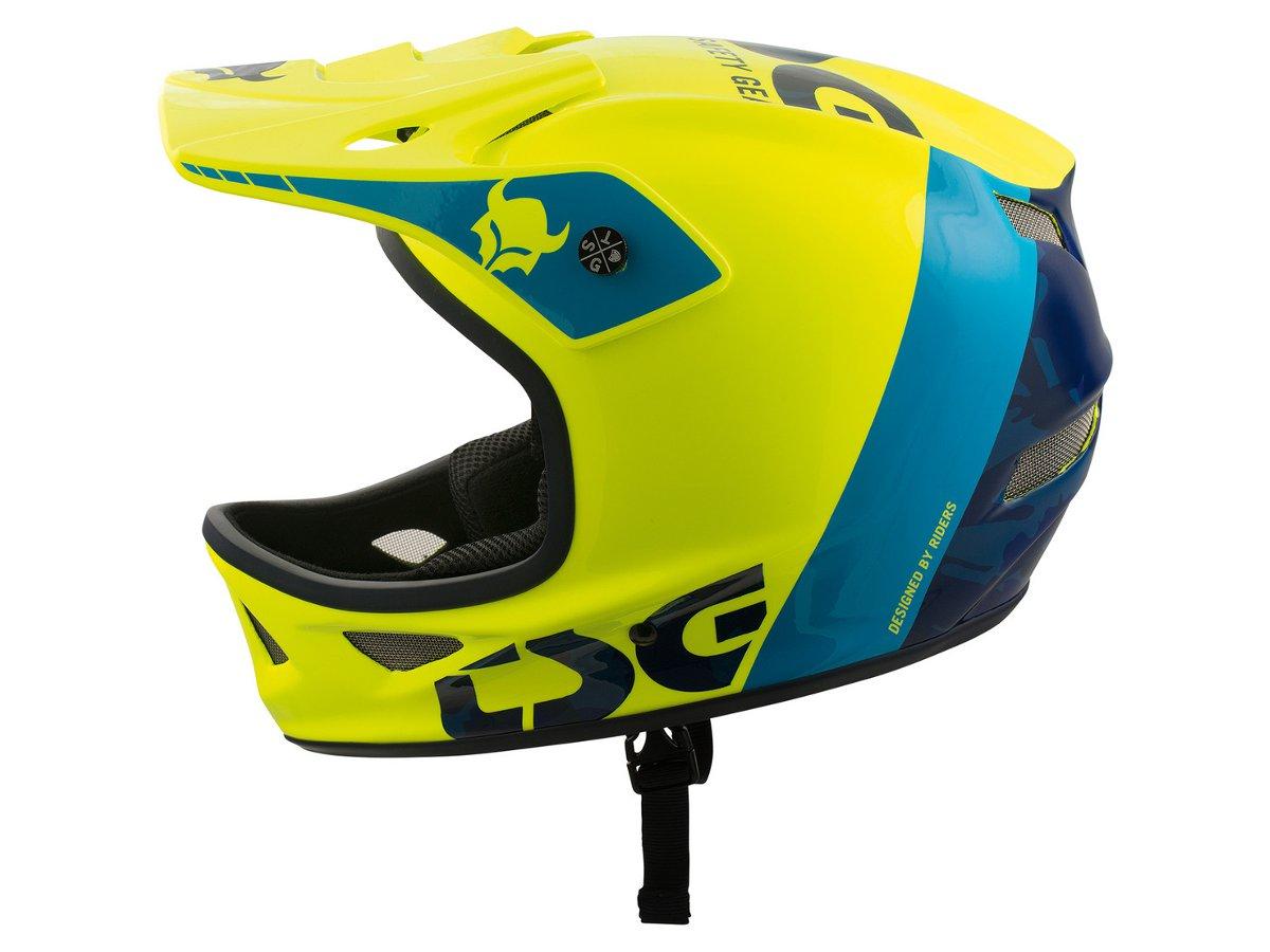 Design Helm tsg squad graphic design fullface helmet trap acidyellow