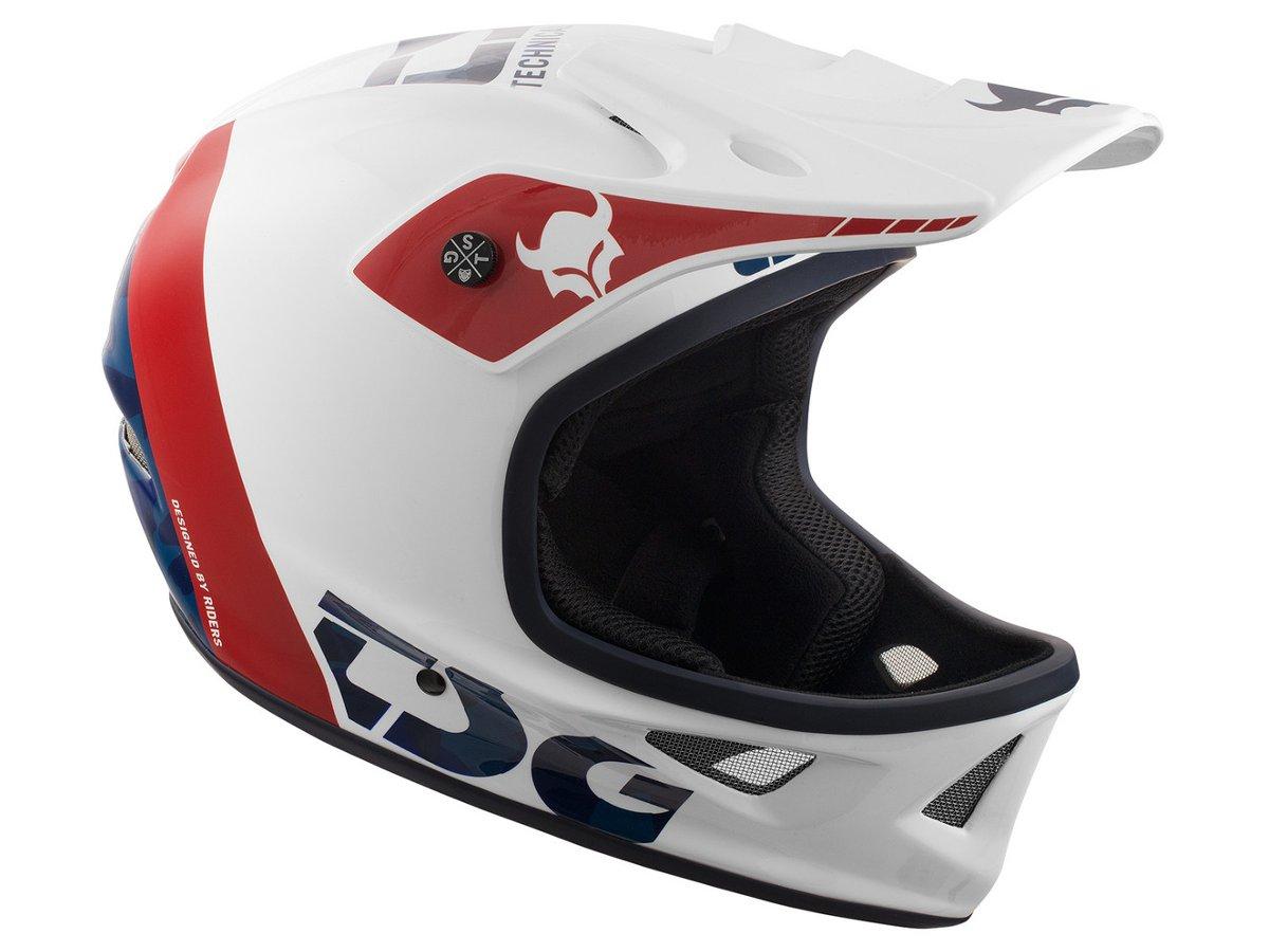 Design Helm tsg squad graphic design fullface helmet trap white kunstform