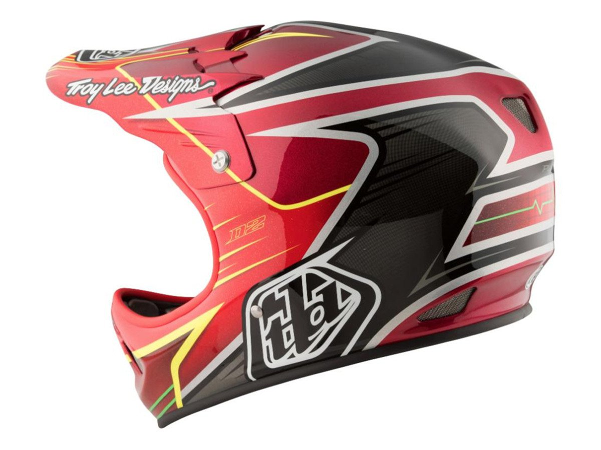 Troy lee designs d2 fullface helmet pulse red for Helm design