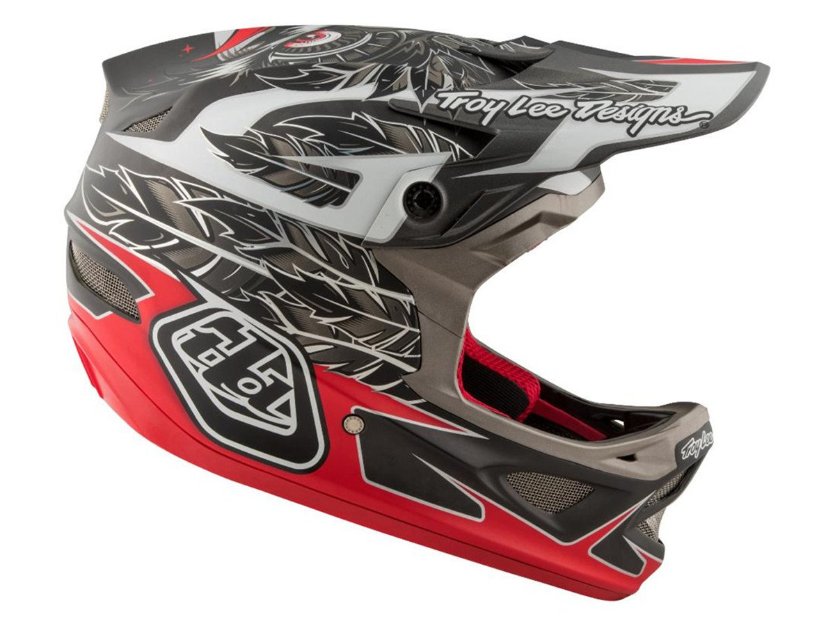Troy lee designs d3 fullface helmet nightfall black for Helm design