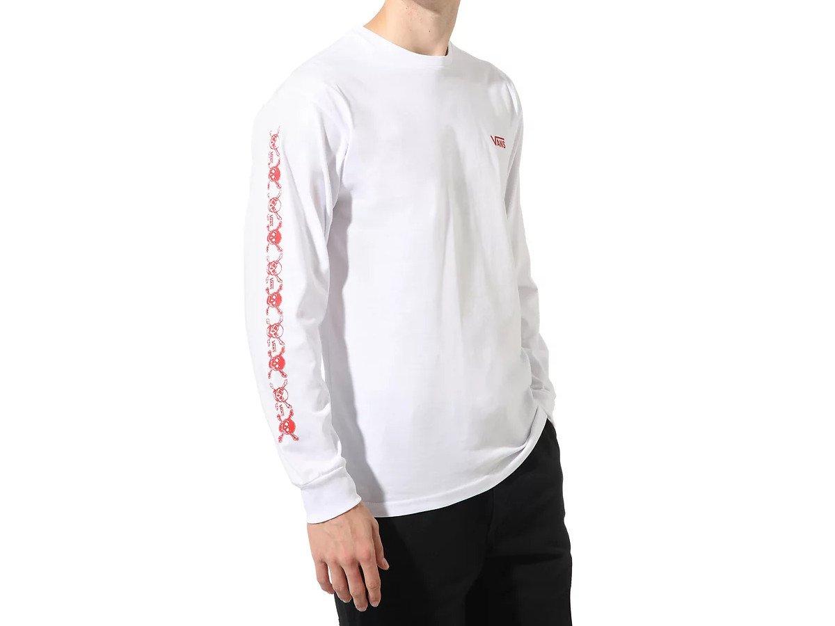 Vans SKEWED - Langarmshirt white