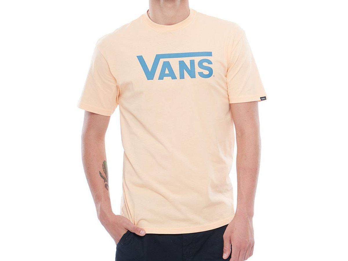 Vans – Classic Fit T Shirt mit Logo Print – Apricot