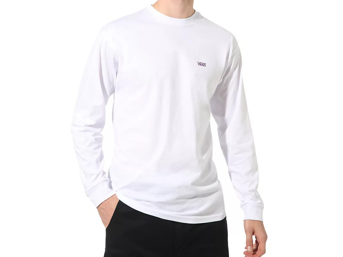 Vans Left Chest Hit Longsleeve (white heliotrope)