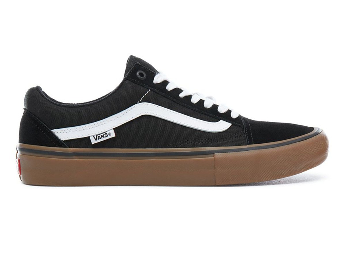 Vans Old Skool Pro Shoes Black White Medium Gum