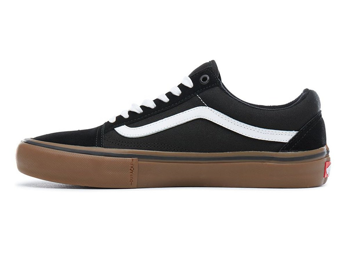 vans old skool pro schuhe black white medium gum. Black Bedroom Furniture Sets. Home Design Ideas