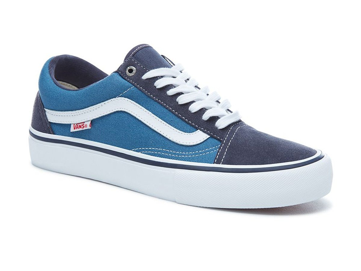 vans old skool pro shoe navy white vans Suede Canvas