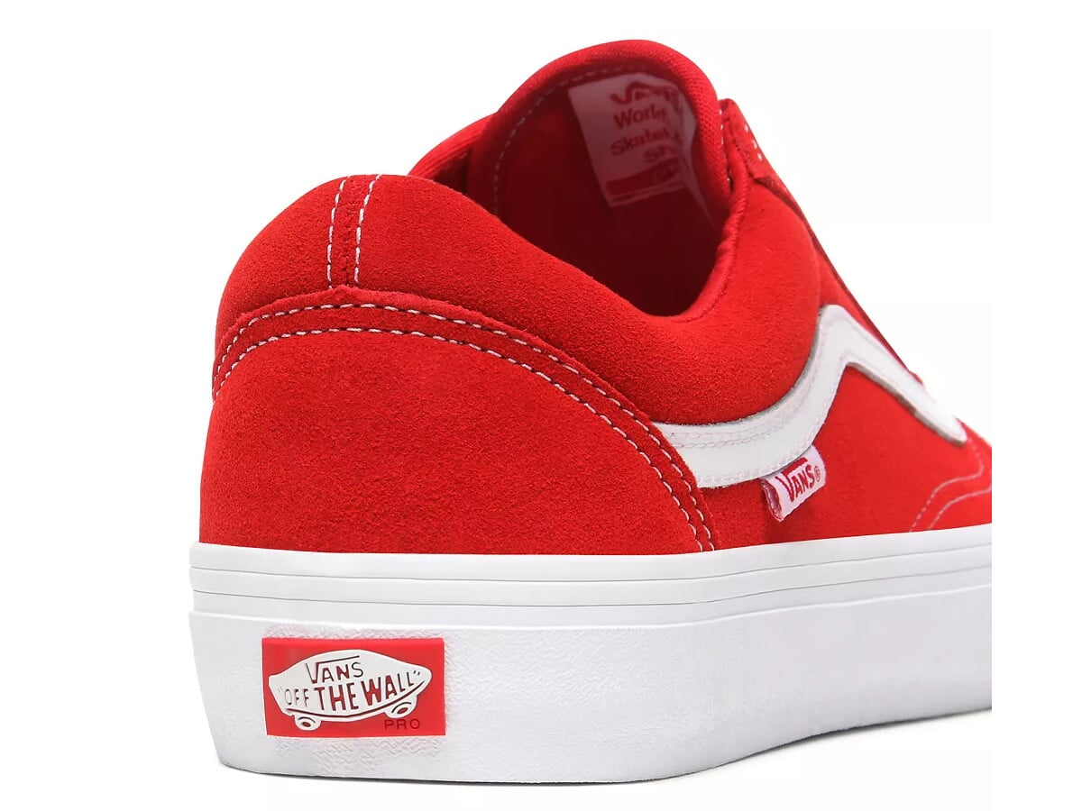 Vans Old Skool Pro Suede Schuh (red white)
