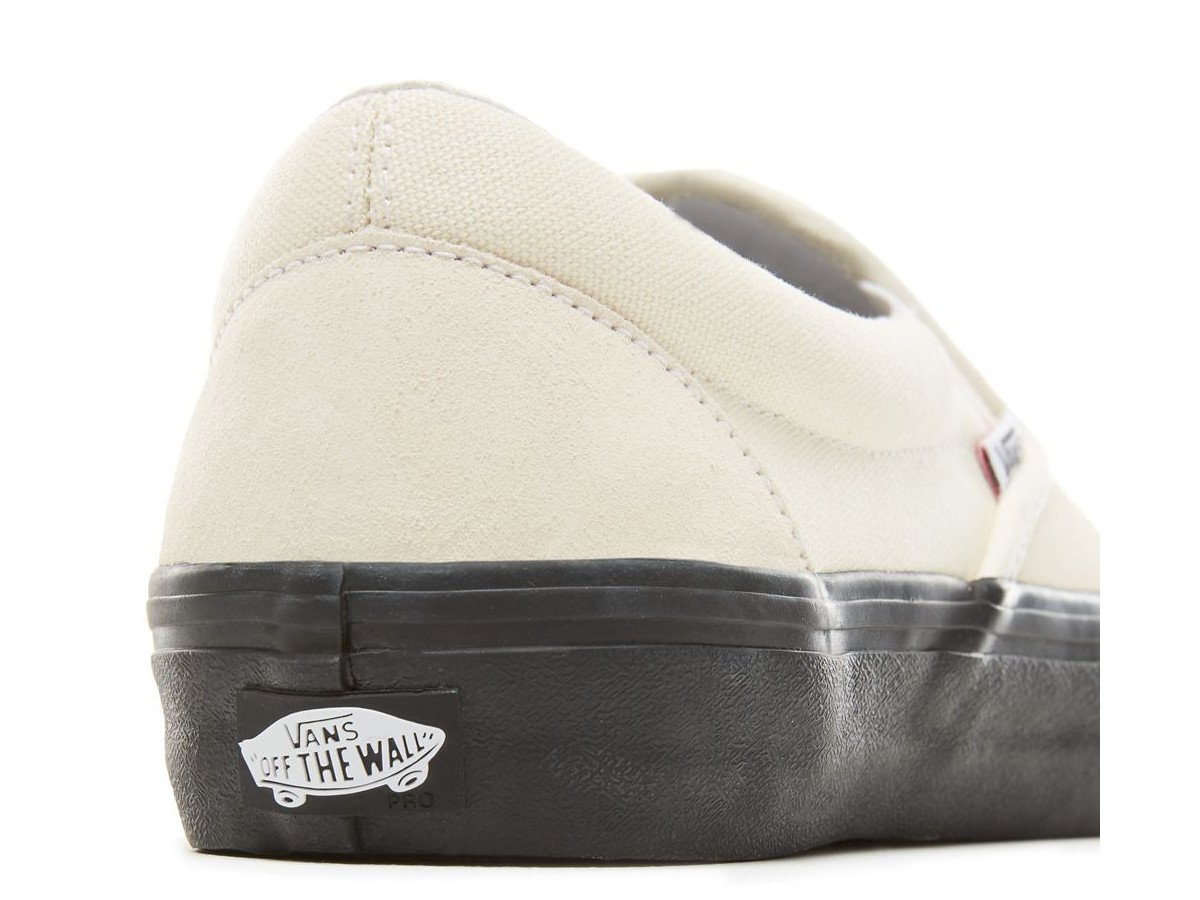 Vans Slip On Pro Classic Weiß & Schwarz Skate Schuhe Schuhe