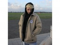 "Autum Bikes ""Ground Astronauts"" Coach Jacket - Beige"