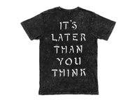 "Cult ""Later Then You Think"" T-Shirt - Black Tie Dye"