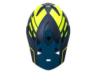 "Kali Protectives ""Zoka"" Fullface Helm - Black/Flourescent Yellow/Teal"