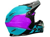 "Kali Protectives ""Zoka"" Fullface Helm - Blue/Purple/Black"