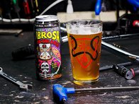 "Subrosa Bikes ""Slither"" Pint Glass"