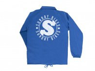 "Sunday Bikes ""Strength Security"" Coach Jacke - Royal Blue"