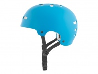 "TSG ""Evolution Solid Colors"" Helm - Satin Dark Cyan / White EPS"