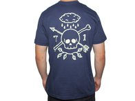"Terrible One ""Rain Skull"" T-Shirt - Blue"