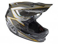 "Troy Lee Designs ""D3 Carbon"" Fullface Helm - Cadence Gray (MIPS)"