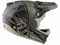 "Troy Lee Designs ""D3 Carbon"" Fullface Helm - Starburst Black (MIPS)"