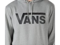 "Vans ""Classic"" Hooded Pullover - Cement Heather/Black"