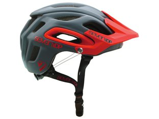"7 Protection ""M2 BOA"" Trail MTB Helm - Dark Grey/Red"