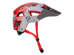 "7 Protection ""M5"" Trail MTB Helm - Grey/Red"