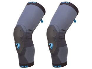 "7 Protection ""Project Lite"" Knee Pads - Grey/Blue"