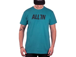"ALL IN ""Logo"" T-Shirt - Teal"