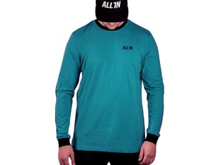 "ALL IN ""Pushing The Limits"" Longsleeve - Teal/Black"