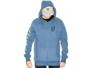 "Allin ""Classic"" Hooded Zipper - Blue"
