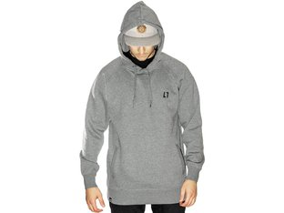 "Allin ""Stitch"" Hooded Pullover - Grey"
