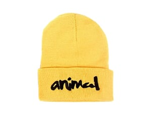 "Animal Bikes ""Script"" Beanie - Gold"