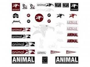 Animal Bikes Stickerset