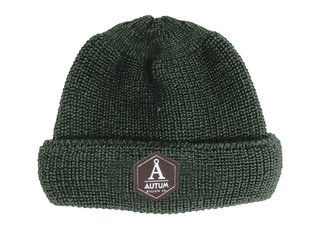 "Autum Bikes ""Fisherman Leather Patch"" Beanie"