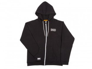 "BSD ""Acid Face"" Hooded Zipper - Black"