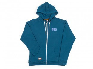 "BSD ""Acid Face"" Hooded Zipper - Navy Blue"